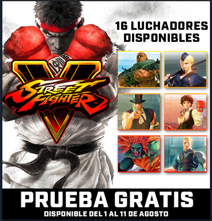 Street Fighters V gratis